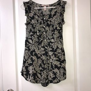 Forever 21 button up paisley romper